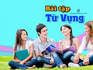 bài tập từ vựng tiếng Anh, thành ngữ tiếng Anh